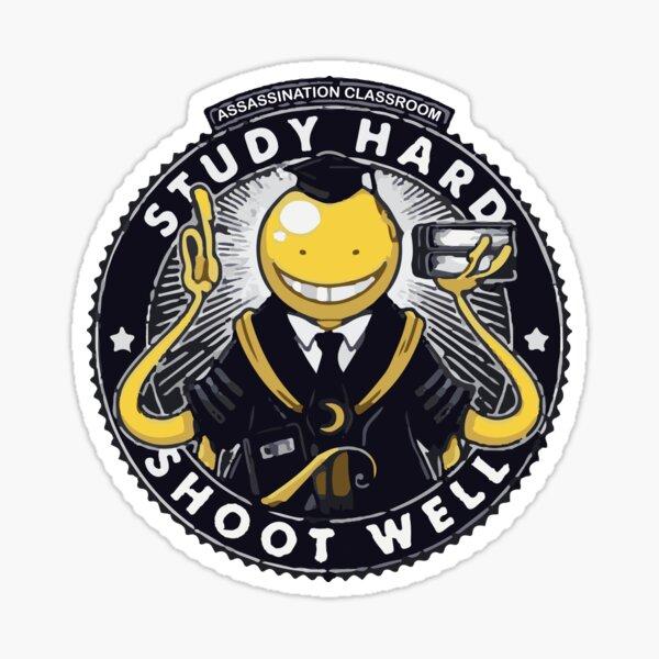 Assassination classroom Koro Sensei Study hard shoot well Sticker
