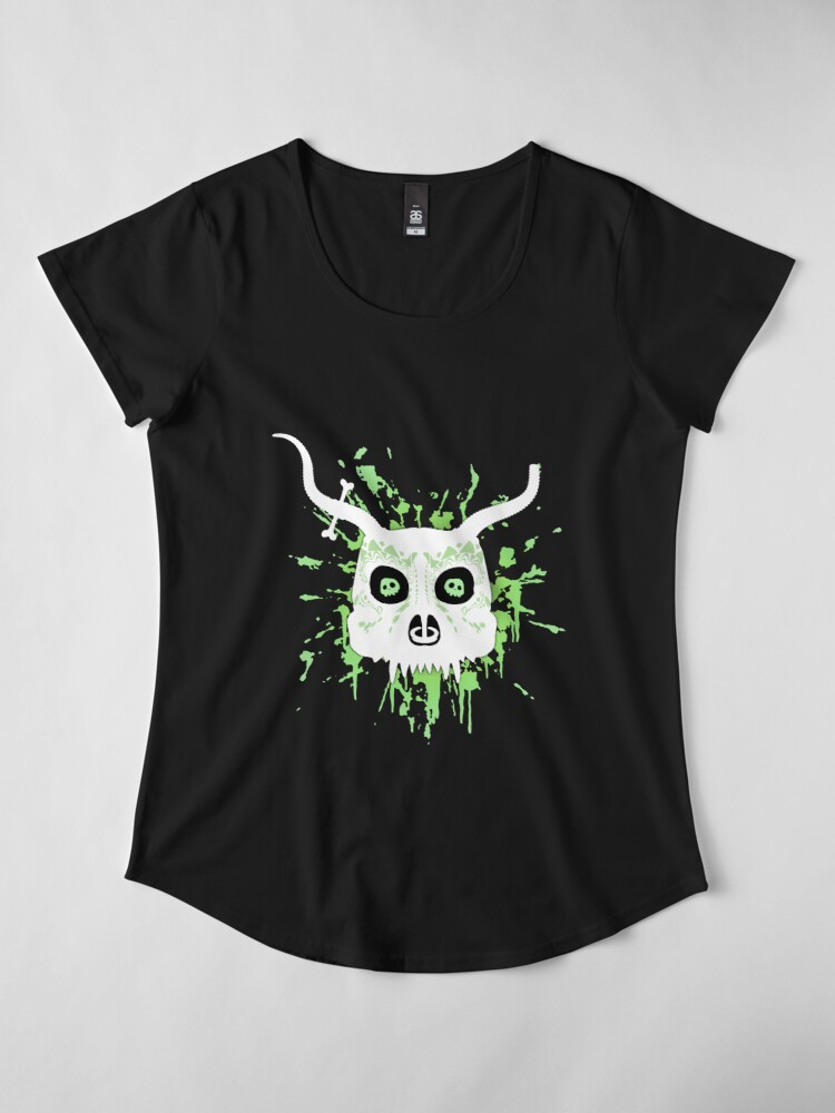 Alternate view of Ankou - series 2 green Premium Scoop T-Shirt