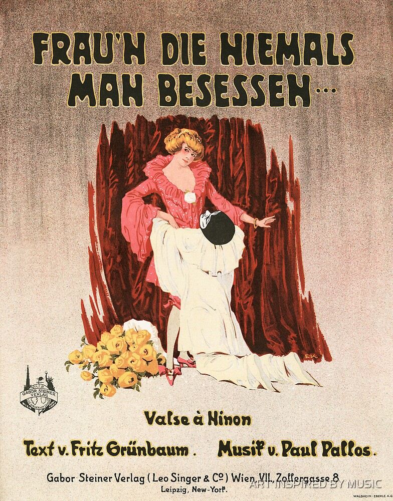 FRAUN DIE HIEMALS MAN BESESSEH (vintage illustration) by ART INSPIRED BY MUSIC