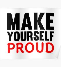 Make Yourself Proud | Fitness Slogan Poster