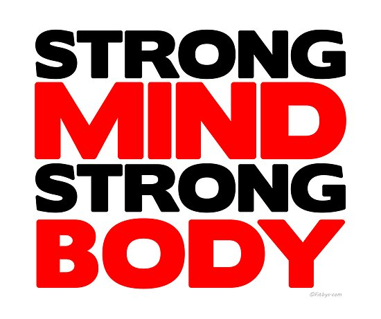 Strong Mind Strong Body | Fitness Slogan von Fitbys