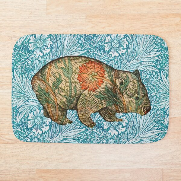 Rossetti's Wombat in Blue Marigold Bath Mat