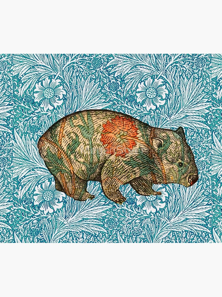 Rossetti's Wombat in Blue Marigold by MeganSteer