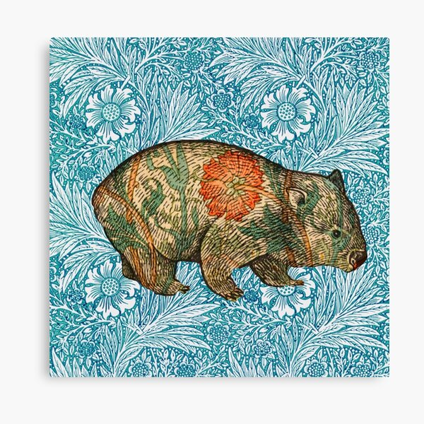 Rossetti's Wombat in Blue Marigold Canvas Print