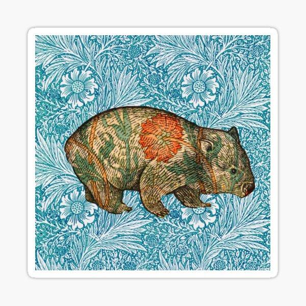 Rossetti's Wombat in Blue Marigold Sticker