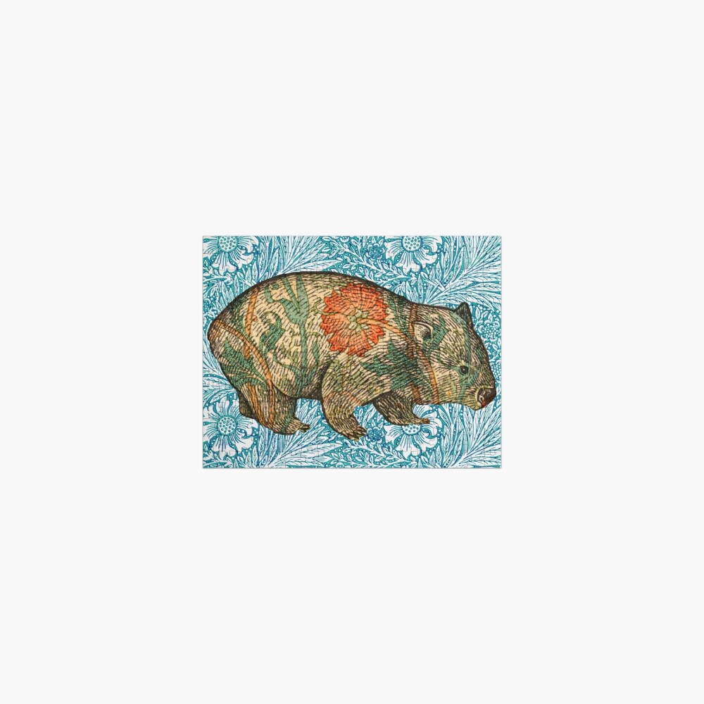 Rossetti's Wombat in Blue Marigold Jigsaw Puzzle