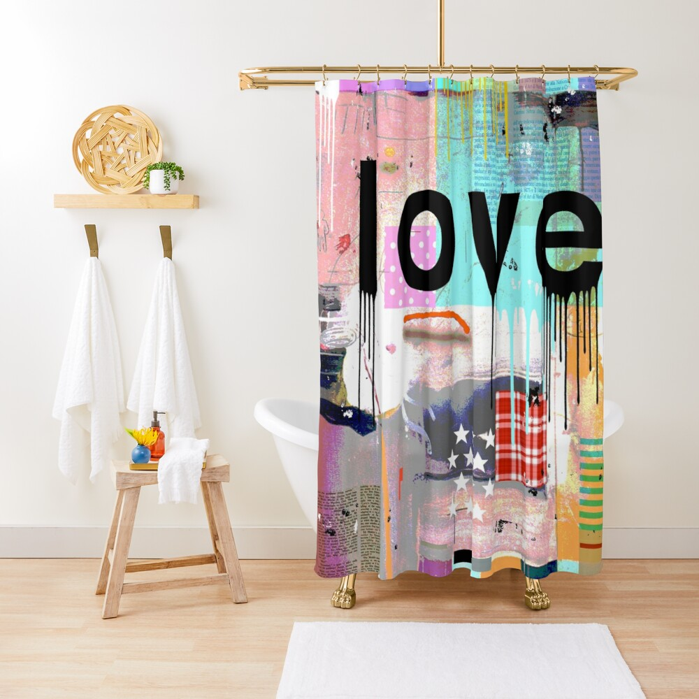 LOVE COLOR Shower Curtain