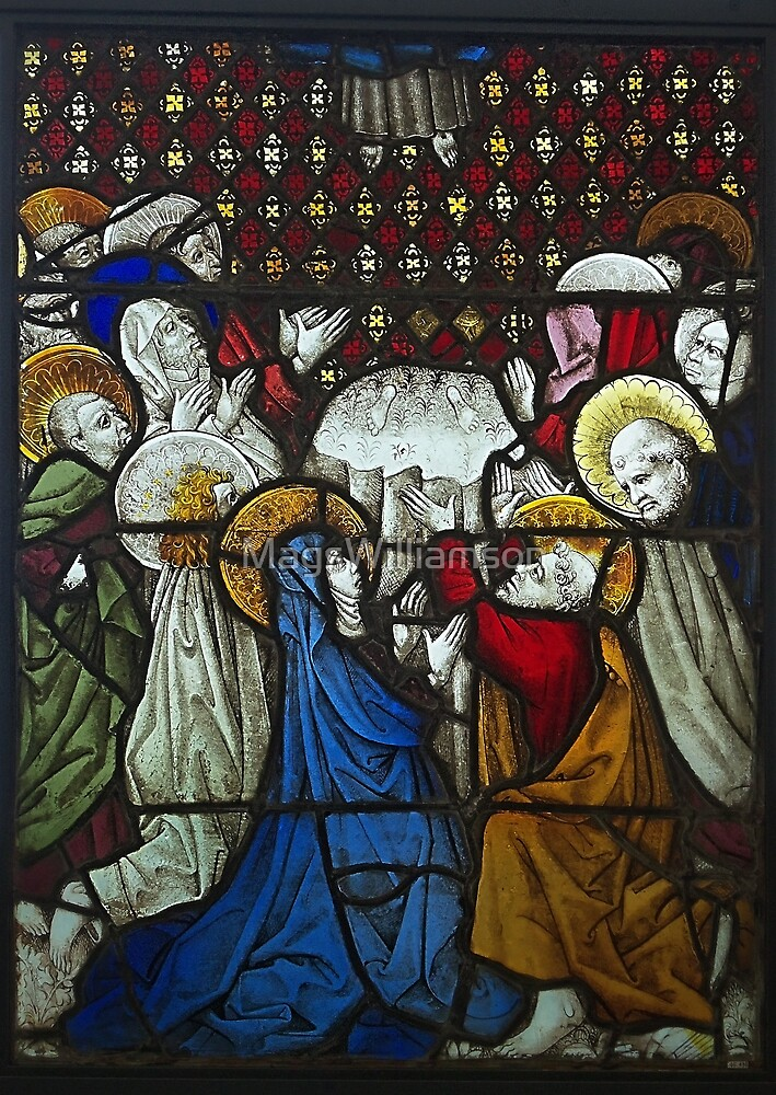 The Ascension Of Christ, Stained Glass Window by MagsWilliamson