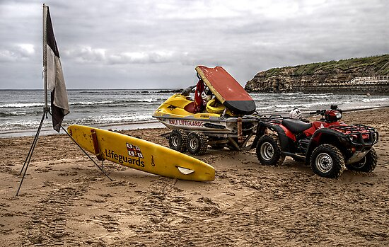 RNLI Lifeguards WaterSki Doo by Andrew Pounder