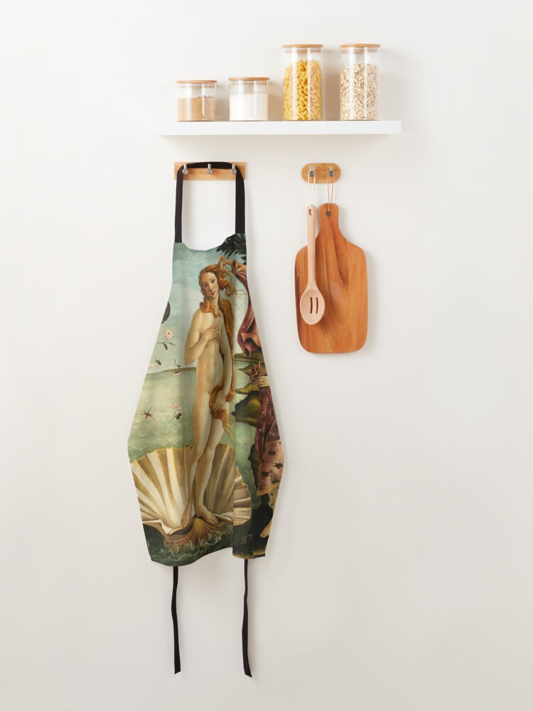 Alternate view of The Birth of Venus by Botticelli Apron