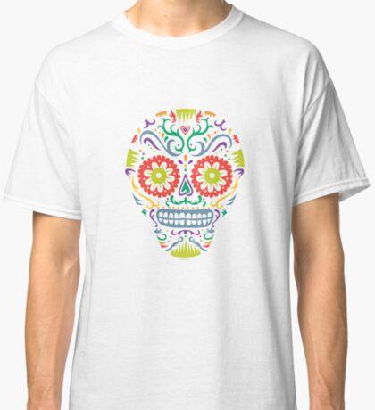 Sugar Skull SF -  on blackSugar skull SF in black white and orange. © Andi Bird  All Rights Reserved. Classic T-Shirt