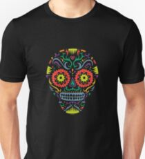 Sugar Skull SF -  on blackSugar skull SF in black white and orange. © Andi Bird  All Rights Reserved. T-Shirt