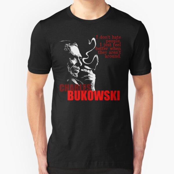 Poet & Author Charles Bukowski Tee Slim Fit T-Shirt