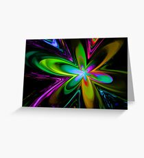 Neon Bloom Greeting Card