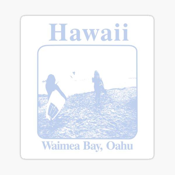 hawaii waimea bay oahu sticker stickers brandy Sticker