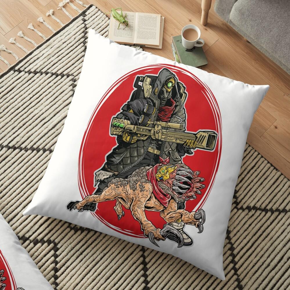 FL4K The Beastmaster With Guard Skag Borderlands 3 Rakk Attack! Floor Pillow
