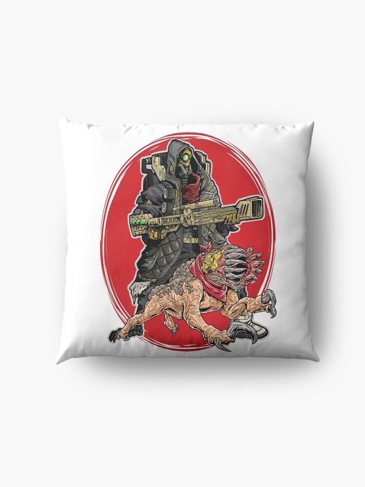 Alternate view of FL4K The Beastmaster With Guard Skag Borderlands 3 Rakk Attack! Floor Pillow