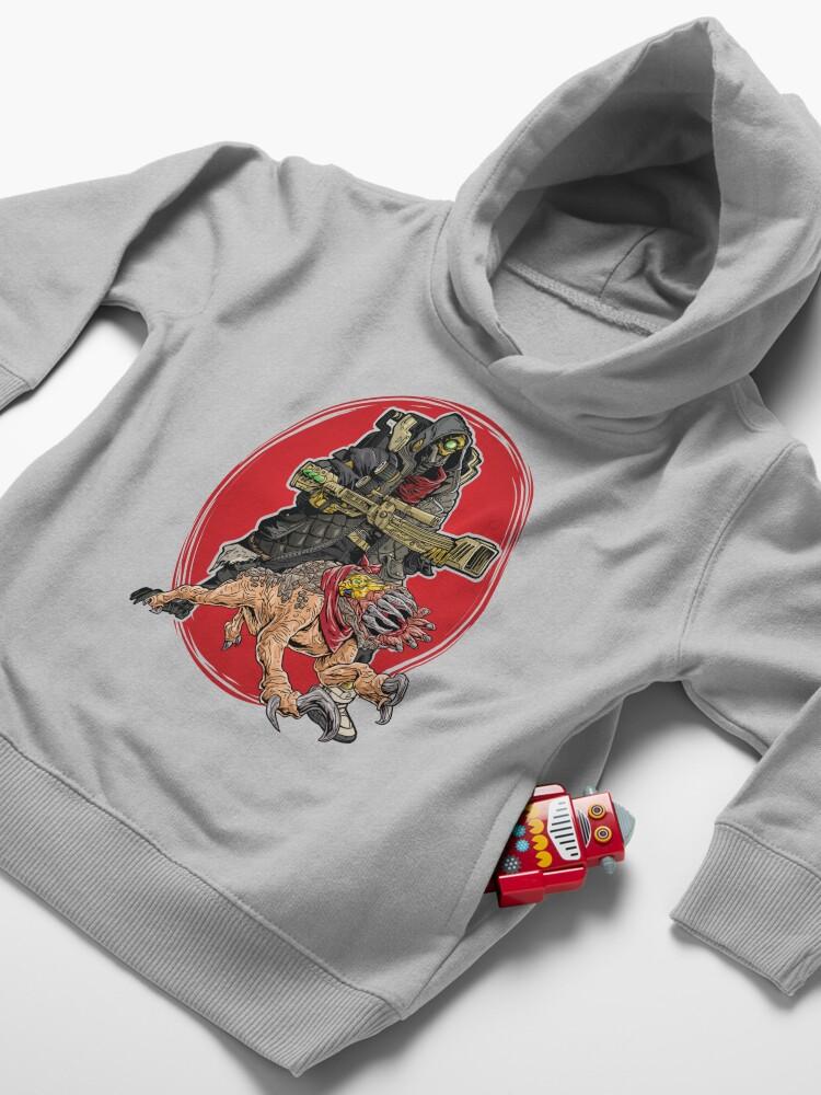 Alternate view of FL4K The Beastmaster With Guard Skag Borderlands 3 Rakk Attack! Toddler Pullover Hoodie