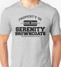 Property of Serenity Browncoats Uncivilized Hoopball Club T-Shirt