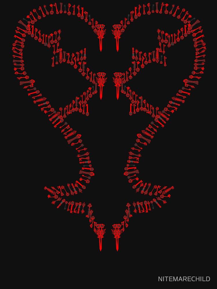 Kingdom Hearts: Keyblades to my Heartless hoodie | Hoodie (Zipper)