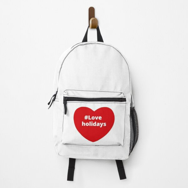 Love Holidays - Hashtag your i Love Heart  Backpack