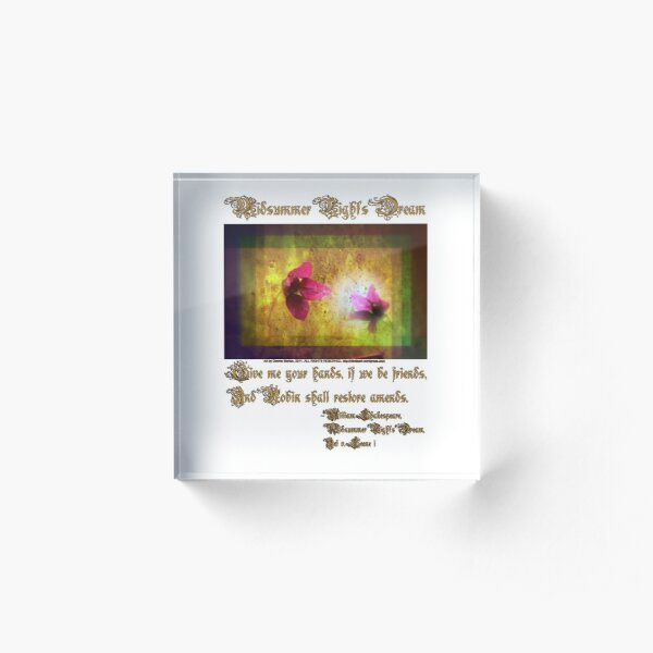 marriage of Titania; Salmon berry floral duet Acrylic Block