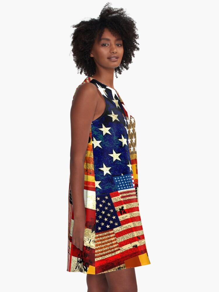 Alternate view of AMERICAN FLAG A-Line Dress