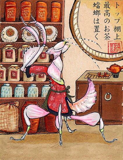 Mantis Tea Shop Print by WenchintheGears