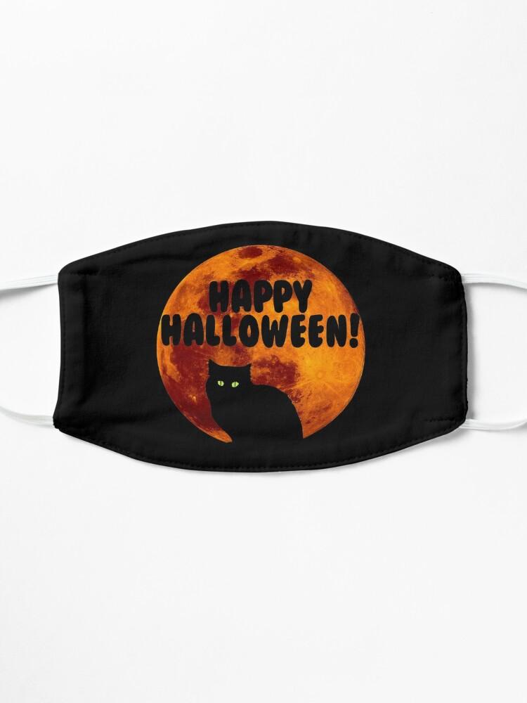Alternate view of Black Cat | Full Blood Moon | Happy Halloween Mask
