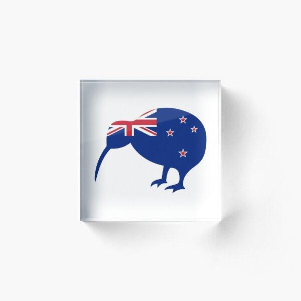 Flag Kiwi of New Zealand Acrylic Block