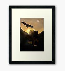 The Hug | Thorin Oakenshield and Bilbo Baggins Framed Print