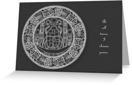 Resurrection Mandala - Card, White Design w/Msg by TheMandalaLady