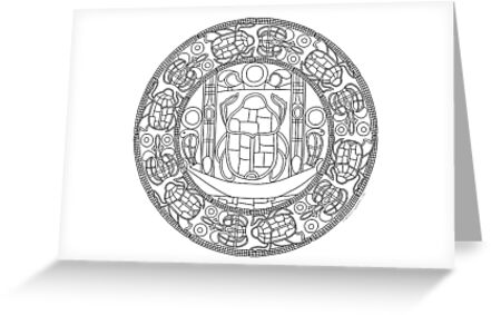 Resurrection Mandala - Card, Color-Your-Own by TheMandalaLady
