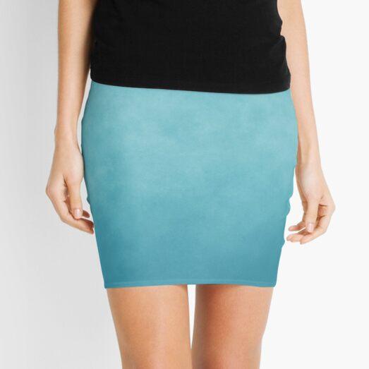 Teal Blue Galaxy Nebula Mini Skirt