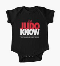 Judo Know One Piece - Short Sleeve