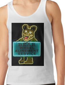 Neon Bear Gas and Oil Tank Top