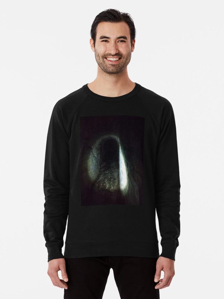 Alternate view of Tunnel, Darkness Lightweight Sweatshirt