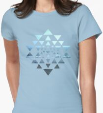 Sri Yantra OceanView Womens Fitted T-Shirt