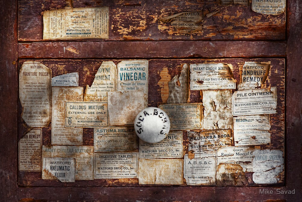 Pharmacy - Signs of the time  by Michael Savad