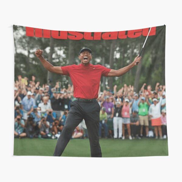 Sports Illustrated - Tiger Woods Masters 2019 Tapestry