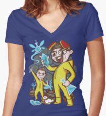 The Legend of Heisenberg Women's Fitted V-Neck T-Shirt