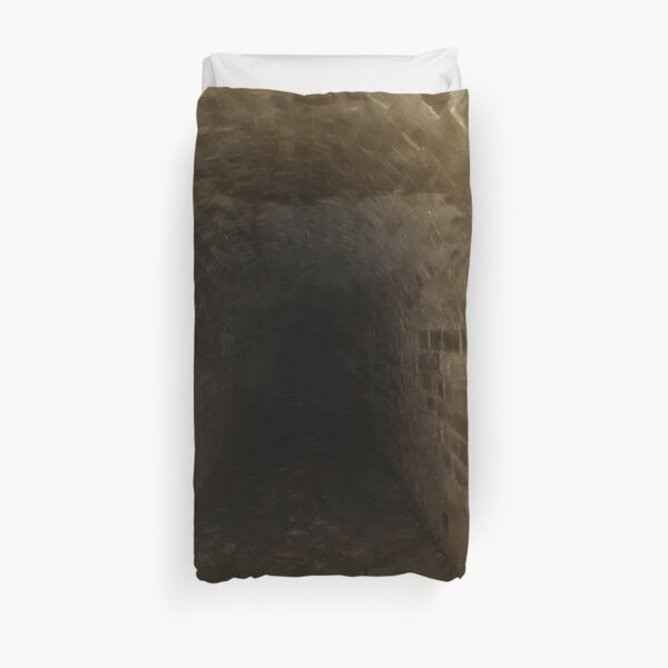 Canal tunnel, Darkness Duvet Cover