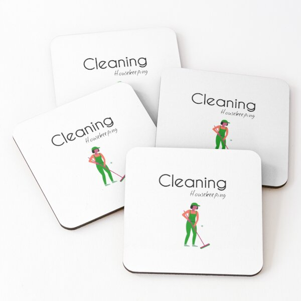 Housekeeping Cleaner - Clearning Housekeeping - Gift For Cleaner  Coasters (Set of 4)