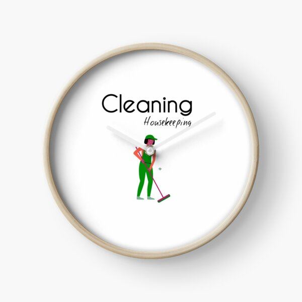 Housekeeping Cleaner - Clearning Housekeeping - Gift For Cleaner  Clock