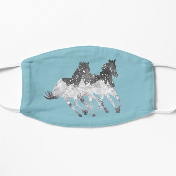 Blue Blizzard Horses Mask