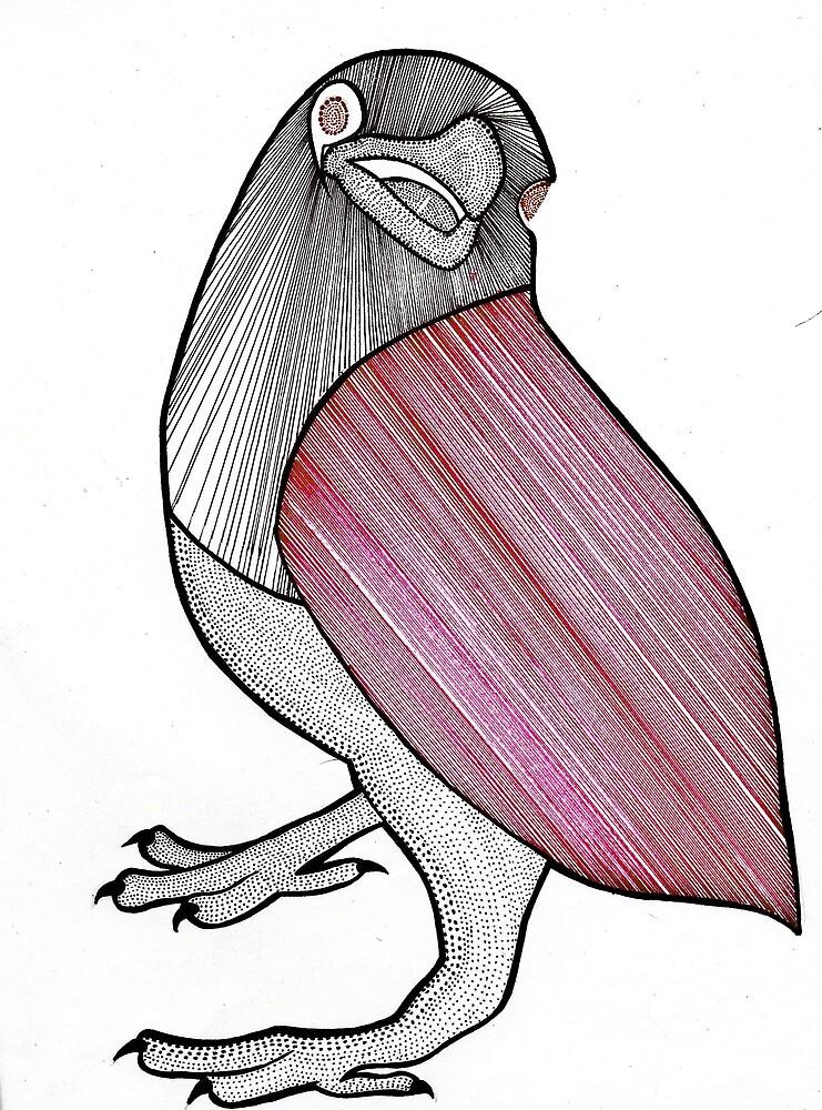 Lined Crow by ZAPcreativity