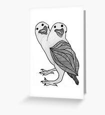 Two Headed Three Eyed Crow Greeting Card