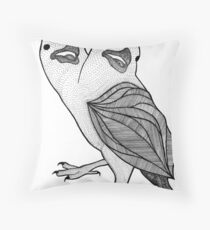Two Headed Three Eyed Crow Throw Pillow