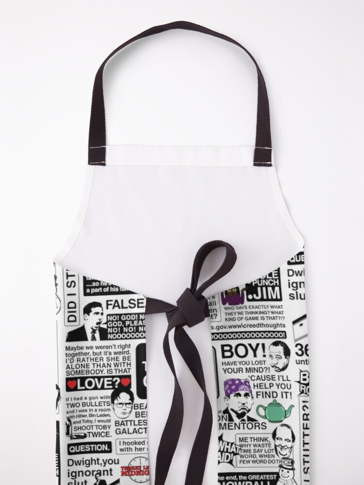 Alternate view of Wise Words From The Office - The Office Quotes (Variant) Apron
