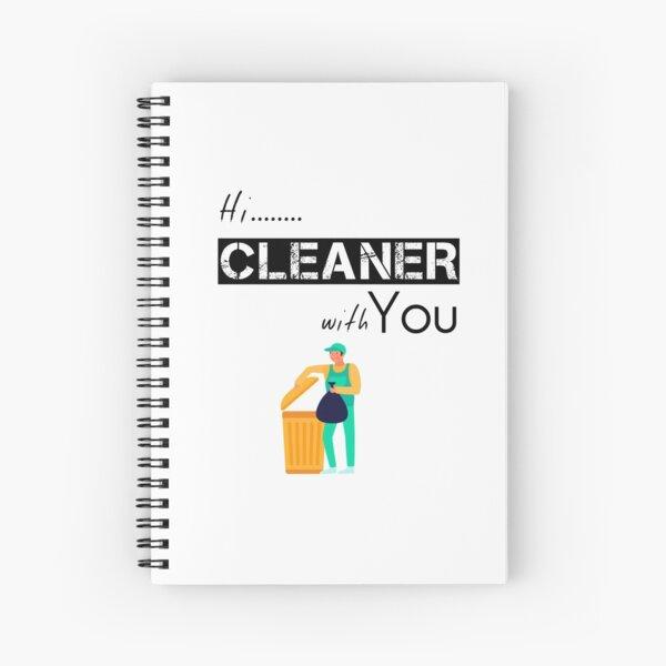 Cleaner gift - Street Cleaner -  Housekeeping Cleaner - Clearning Housekeeping - Gift For Cleaner  Spiral Notebook